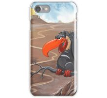 Vulture standing guard over desert iPhone Case/Skin