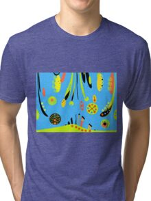 Wild Blue Yonder- Abstract - Digital Art Tri-blend T-Shirt