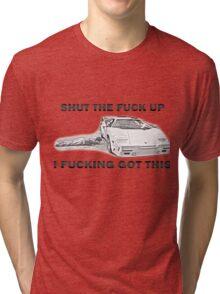 Wolf of Wall Street Countach STFU Tri-blend T-Shirt