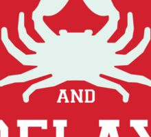 Crabcakes and Relay Sticker