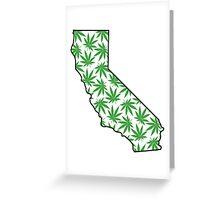 California (CA) Weed Leaf Pattern Greeting Card
