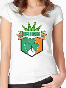 Irish St Paddy's Day Humor: Green Beer Women's Fitted Scoop T-Shirt