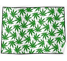 Colorado (CO) Weed Leaf Pattern Poster