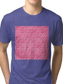 Vintage Floral Lace Leaf Red Tri-blend T-Shirt