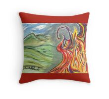 Flames of Destruction & Rebirth Throw Pillow