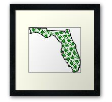 Florida (FL) Weed Leaf Pattern Framed Print