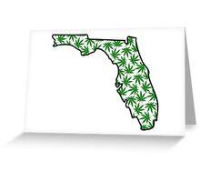 Florida (FL) Weed Leaf Pattern Greeting Card