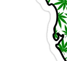 Florida (FL) Weed Leaf Pattern Sticker