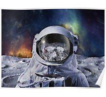 Astro Blur w/ skull - Galaxy Beyond  Poster