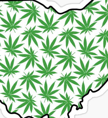 Ohio (OH) Weed Leaf Pattern Sticker