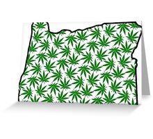 Oregon (OR) Weed Leaf Pattern Greeting Card