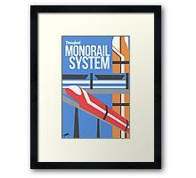 Disneyland Monorail Poster Framed Print