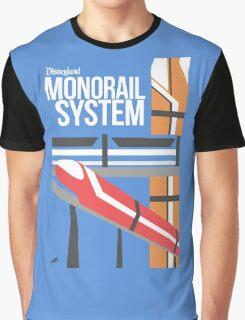 Disneyland Monorail Poster Graphic T-Shirt