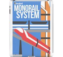 Disneyland Monorail Poster iPad Case/Skin