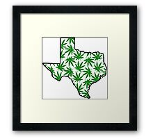 Texas (TX) Weed Leaf Pattern Framed Print