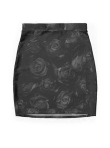 Black Roses Mini Skirt
