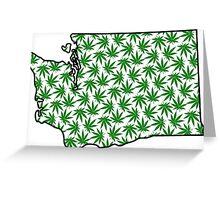 Washington (WA) Weed Leaf Pattern Greeting Card