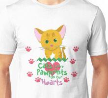 Cats Leave Pawprints Unisex T-Shirt