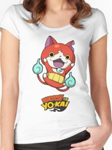 Yokai Watch :Jibanyan Women's Fitted Scoop T-Shirt