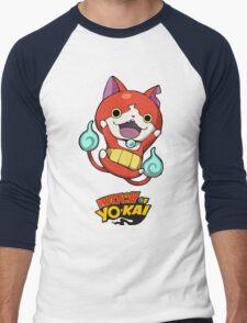 Yokai Watch :Jibanyan Men's Baseball ¾ T-Shirt