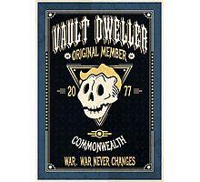 Vault Dweller - Original Member (No Border) Photographic Print