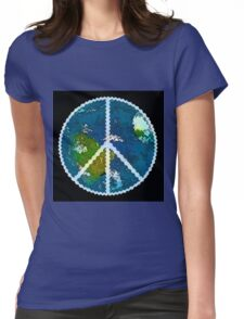 Earth Peace 1 Womens Fitted T-Shirt