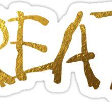 Create in Gold Sticker