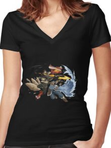 Avatar : Team Avatar Korra Women's Fitted V-Neck T-Shirt