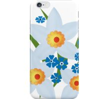 Illustration of daffodils, spring flowers. iPhone Case/Skin