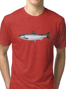 Washington Salmon Tri-blend T-Shirt