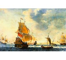Old Dutch Sailing Ships Photographic Print