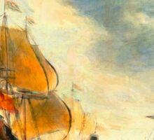 Old Dutch Sailing Ships Sticker