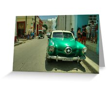 Green Studebaker  Greeting Card