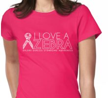 Love A Zebra White Version (Ehlers Danlos Awareness)  Womens Fitted T-Shirt