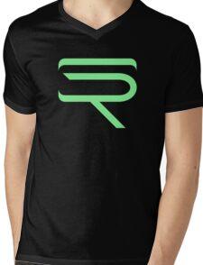 SinfullyRiddling Logo (Green) Mens V-Neck T-Shirt