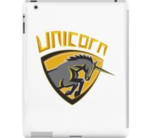 Black Unicorn Horse Head Charging Crest Retro iPad Case/Skin