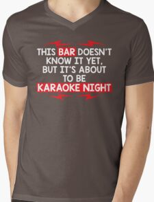 bar night Mens V-Neck T-Shirt