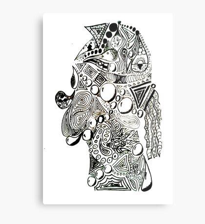 Trippy Homer Metal Print