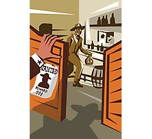 Cowboy Robber Stealing Saloon Poster Photographic Print