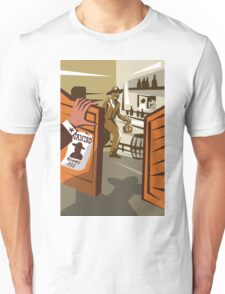 Cowboy Robber Stealing Saloon Poster Unisex T-Shirt