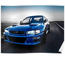 World Rally Blue Poster