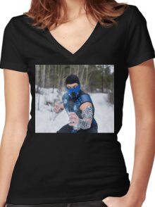 Sub Zero 2 Women's Fitted V-Neck T-Shirt