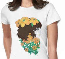 Floral Beauty Womens Fitted T-Shirt