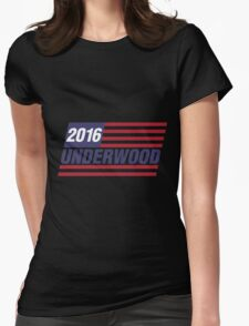 Frank Underwood Logo Womens Fitted T-Shirt
