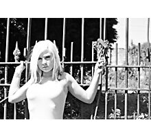 Blonde at the Gate Photographic Print