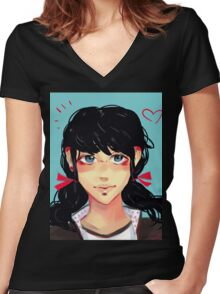 Marionette  Women's Fitted V-Neck T-Shirt