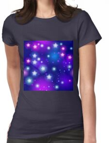 Stars pattern Womens Fitted T-Shirt