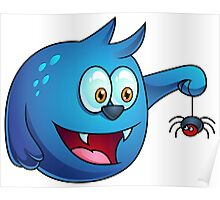 Cartoon play with Spider Poster