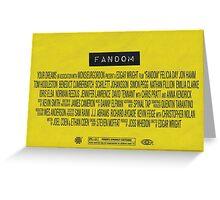 Fandom - The Movie Greeting Card