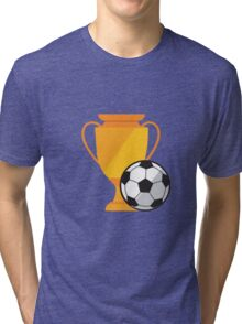 Soccer illustration, ball with cup Tri-blend T-Shirt